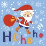 Hohoho Santa cute Christmas card — Stock Vector #60483415