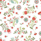 Beautiful seamless floral pattern — Stock Vector