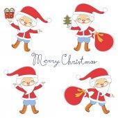 Cute Santas collection — Stock Vector