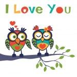 Love owls — Stock Vector #60925683