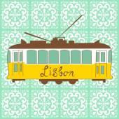Lisbon tram — Stock Vector