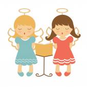 Cute angels illustration — Stock Vector
