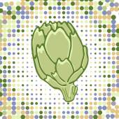 A colorful illustration of fresh artichoke — Stock Vector