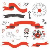 Elegant set of design elements — Stock Vector