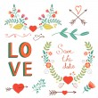 Beautiful love set — Stock Vector #63234759