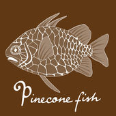 Pinecone fish — Stock Vector