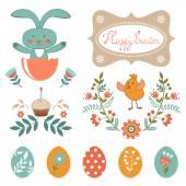 Beautiful Easter collection — Vecteur