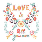 Love is all you need — Stock Vector