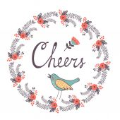 Cheers concept card — Stock Vector