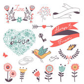 Romantic collection — Stock Vector