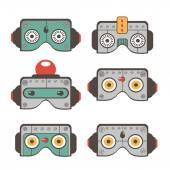 Robot masks collection — Stock Vector