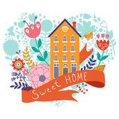 Home sweet home concept illustartion — Stock Vector
