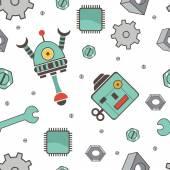 Patrón sin soldadura con robots — Vector de stock