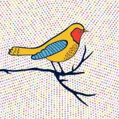 An illustration of beautiful colorful bird — Stock Vector