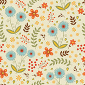 A beautiful seamless floral pattern — Stock Vector