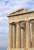 Columns of Parthenon at Acropolis — Stock Photo