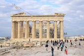 Tourists visiting  Acropolis — Stock Photo