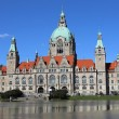 New Town Hall Building Rathaus  of Hannover — Stock Photo #69826927