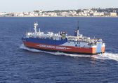 Dodekanisos Seaways ferry leaving Rhodes port — Fotografia Stock