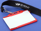 Id badge for VIP event — Stock Photo