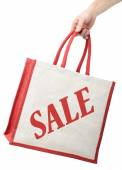 Bag with sale printed on the side — Fotografia Stock