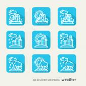 Icons - weather — Stock Vector