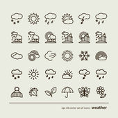 Set with icons - weather — Stock Vector
