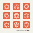 Set with icons - the sun — Stock Vector #53973977