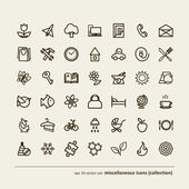 Miscellaneous icons (collection) — Stock Vector