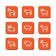 Set with icons - animals on a farm — Stockvector  #55662939