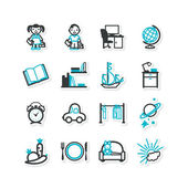 Home interior, nursery, children — Stockvector