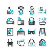 Nursery, children — Stockvector