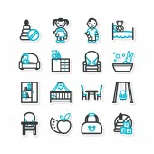 Nursery, children — Vector de stock