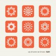 Set with icons - the sun — Stock Vector #64726781