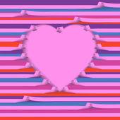 心のカード — ストックベクタ