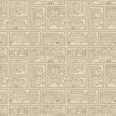 Seamless texture - city — Vettoriale Stock