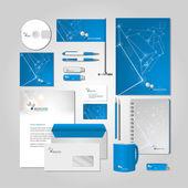 Blue corporate style — Stockvektor