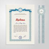 Certificate, Diploma, design template — Stock Vector