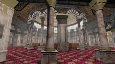 在耶路撒冷岩石内部圆顶的动画 — 图库视频影像