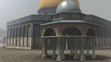 Animation of Dome of the Rock exterior in Jerusalem — Stock Video