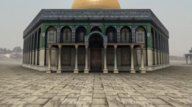 Animation of Dome of the Rock in Jerusalem — Stock Video