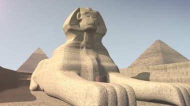 Animation of the sphinx in Egypt — Stock Video