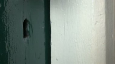 Locking a door — Stockvideo