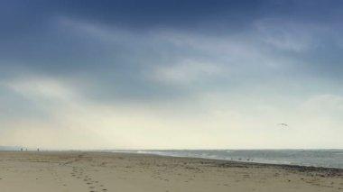Seaside during wintertime — Stock Video