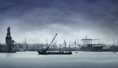 Harbor of Rotterdam — Stock Video