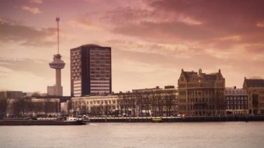 The Euromast of Rotterdam — Stock Video