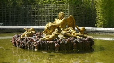 Basin of Saturn at Versailles palace gardens — Stock Video