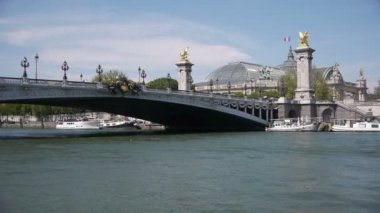 Grand Palais and pont Alexandre III — Stock Video
