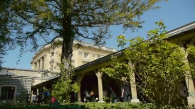 Domain of Marie-Antoinette at Versailles garden — Stock Video