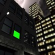 City by night with green screen — Stock Video #84181162